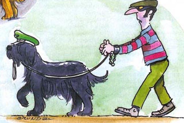 Die Kleinen beim Schutzhunde Training