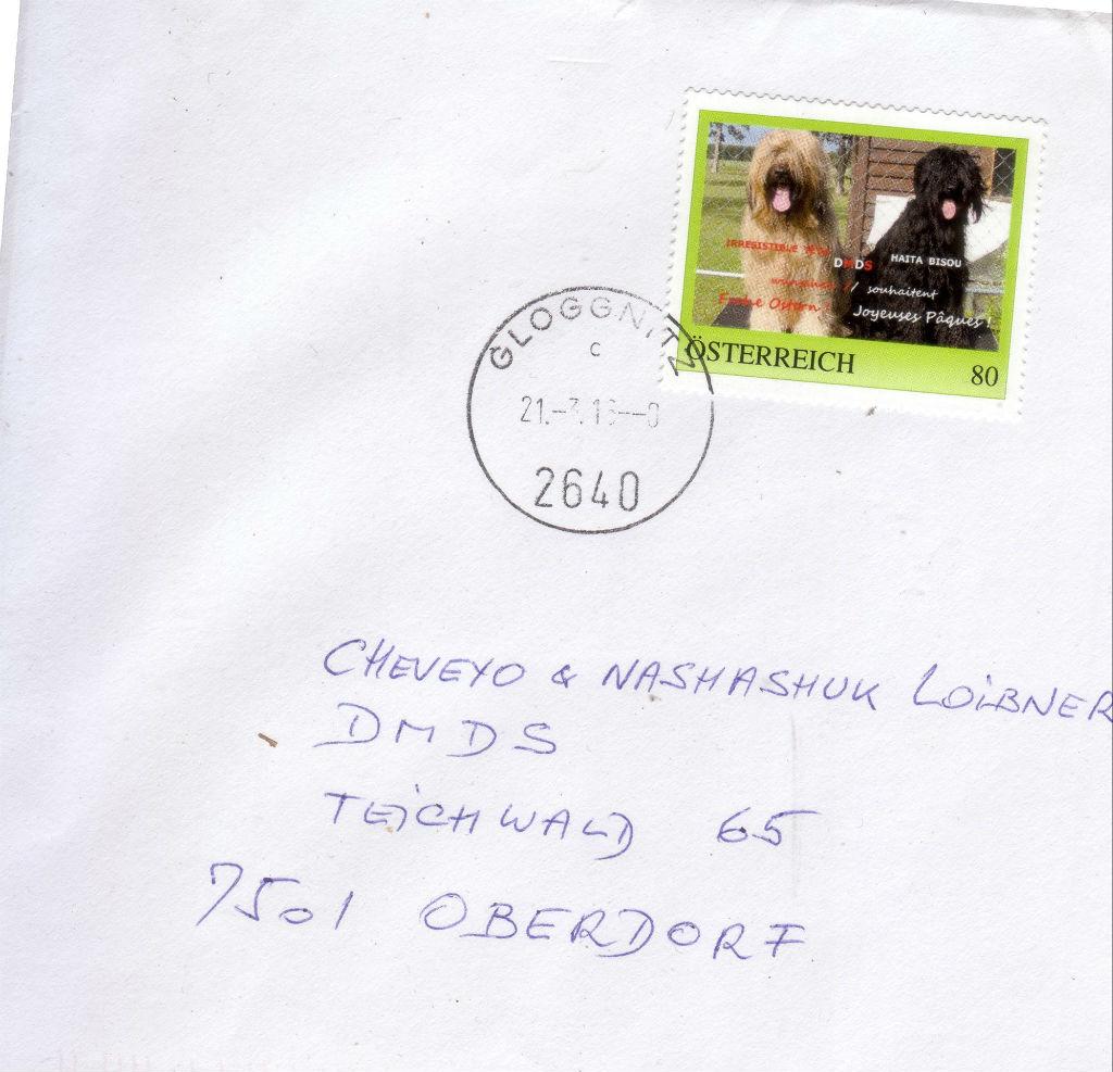 DMDS Bären mit eigenen Briefmarken